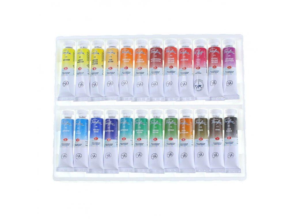 akvarelové barvy v tubě 24 ks