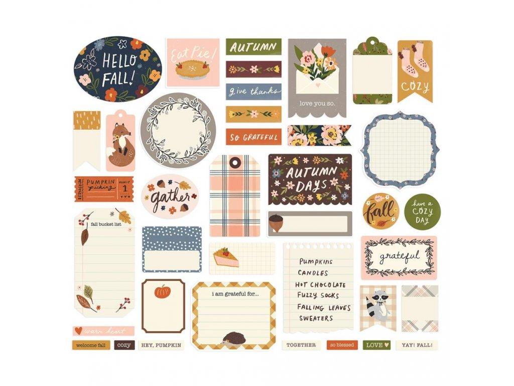 Papírové výseky Simple Stories Cozy Days 2