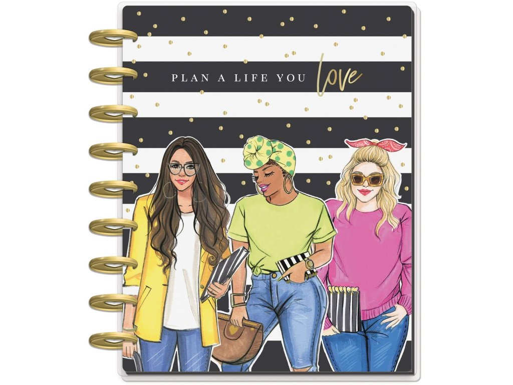Diář 2020 2021 Happy Planner CLASSIC Rongrong Plan A Life You Love