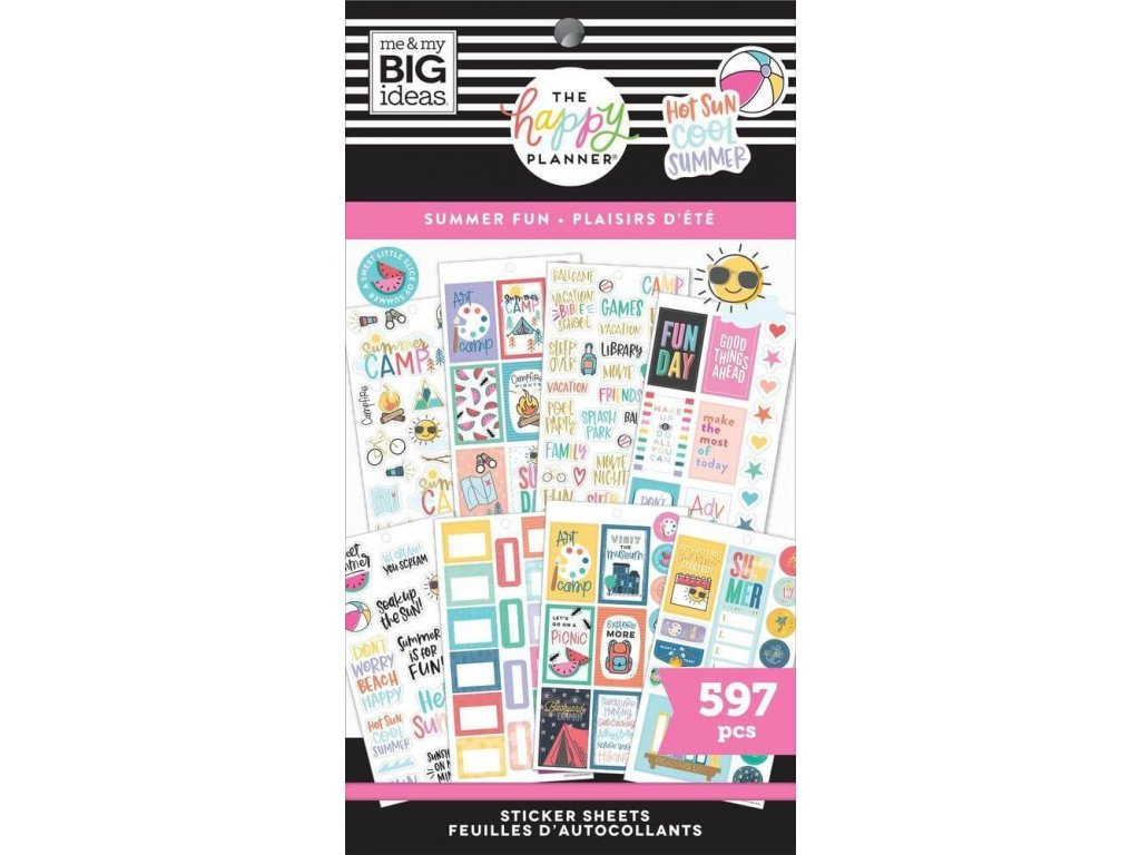 Samolepky Happy Planner CLASSIC Value Pack Summer Fun
