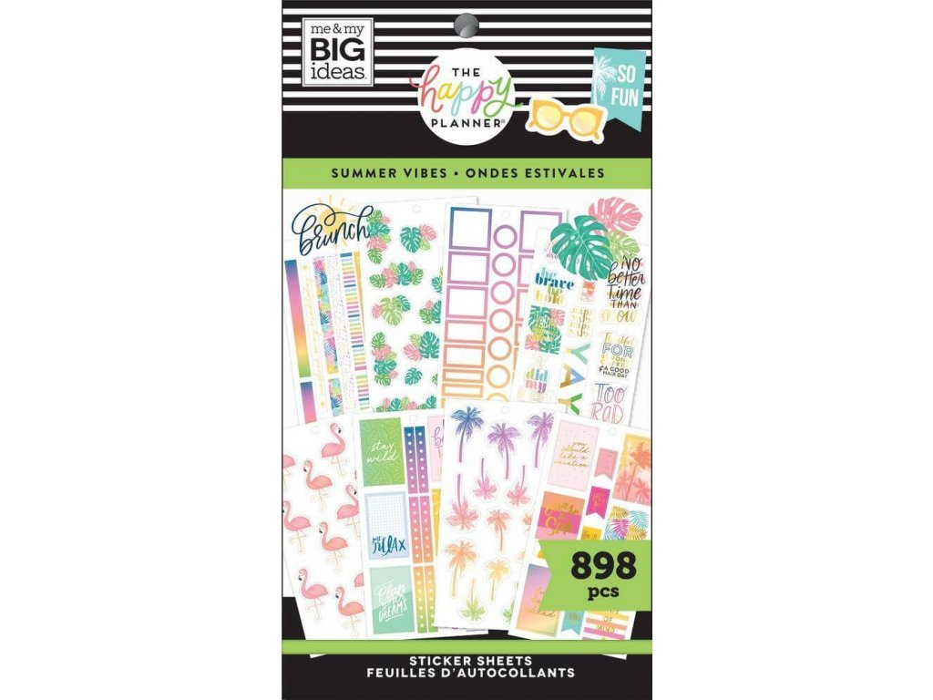 Samolepky Happy Planner Value Pack Summer Vibes
