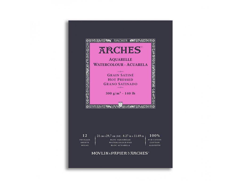 Skicák bavlněný akvarel Arches hot pressed A4