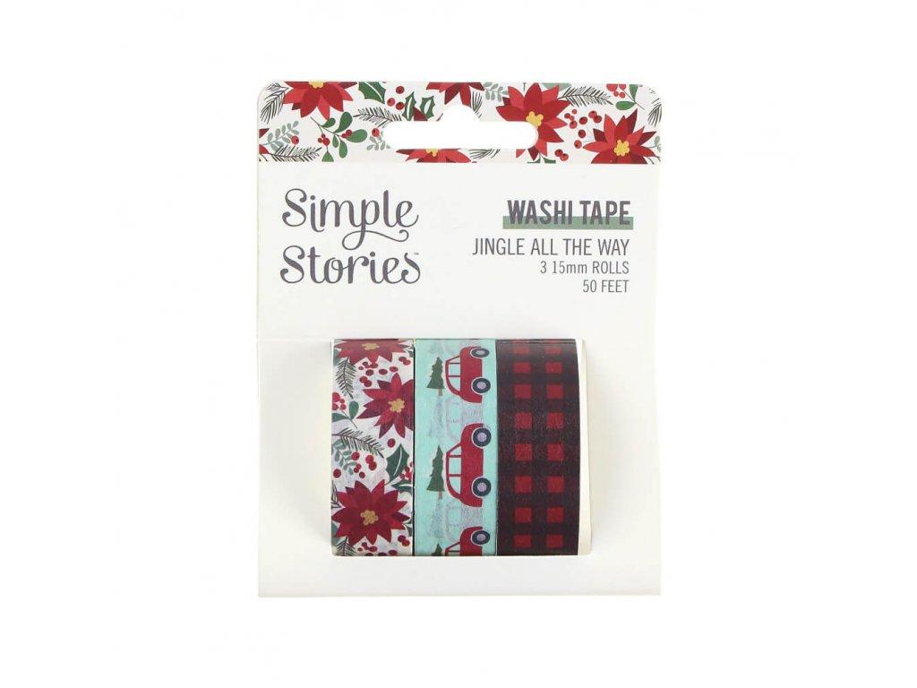 washi pásky Simple Stories Jingle All the Way