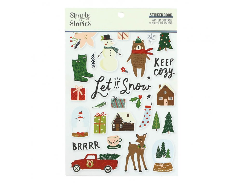 samolepky Simple Stories Winter Cottage