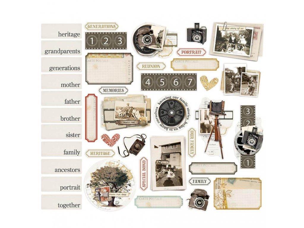 Papírové výseky Simple Stories Vintage Ancestry (1)