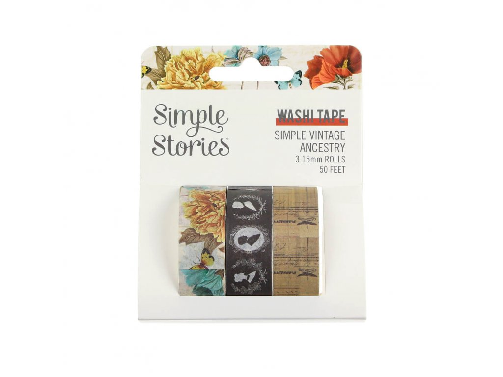washi pásky Simple Stories Vintage Ancestry