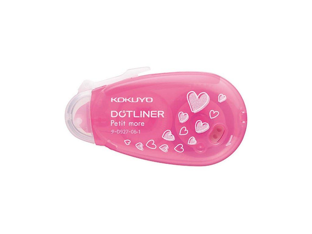 Lepicí roller mini Kokuyo, š. 6 mm růžový