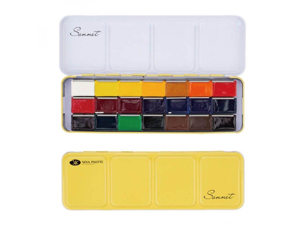 Akvarelové barvy sonnet 21 ks
