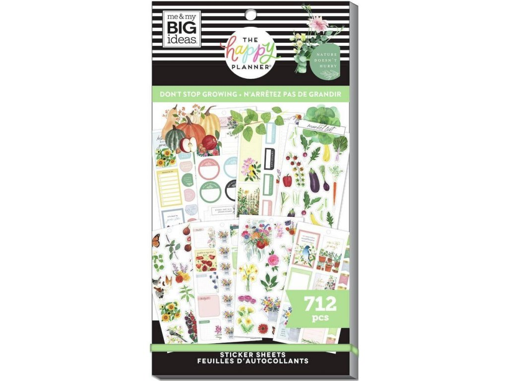 Samolepky Happy Planner Value Pack Don't Stop Growing
