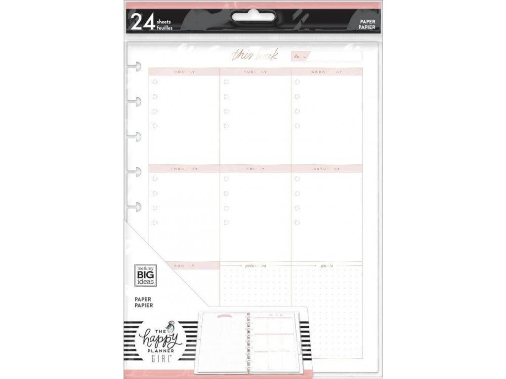 Poznámkové listy Happy Planner CLASSIC Weekly Schedule