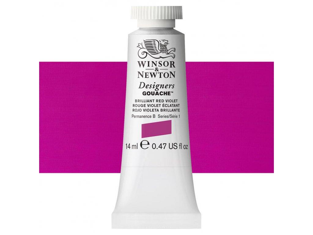 kvasova barva winsor newton swatch brilliant red violet
