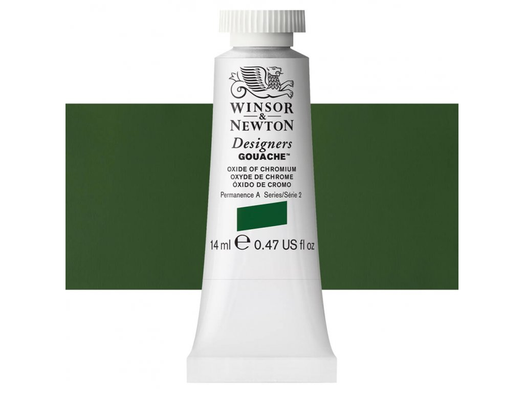 kvasova barva winsor newton swatch oxide of chromium