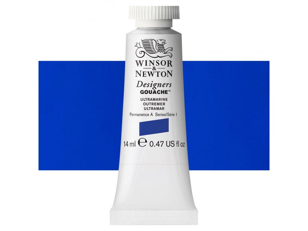 kvasova barva winsor newton swatch ultramarine
