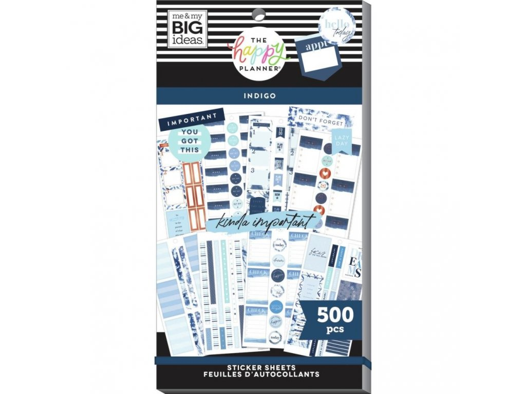 Samolepky Happy Planner Value Pack Indigo