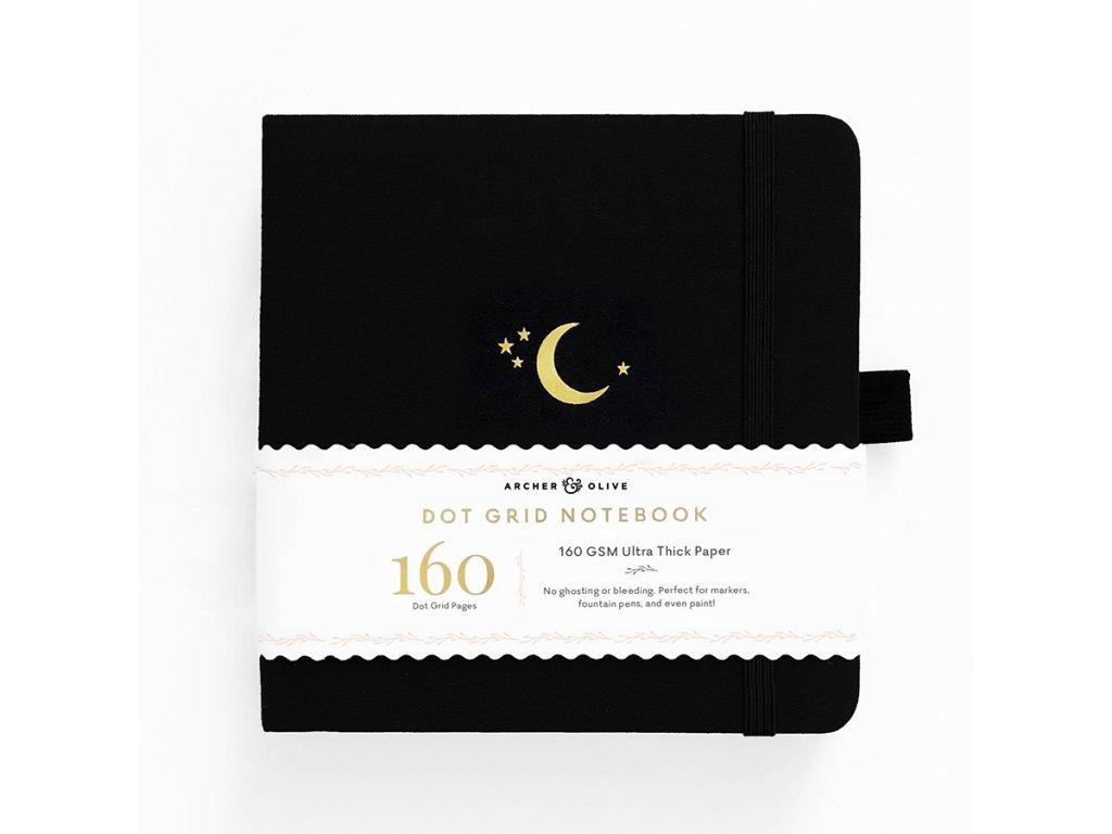 Zápisník Archer & Olive 20,3 x 20,3 cm Crescent Moon