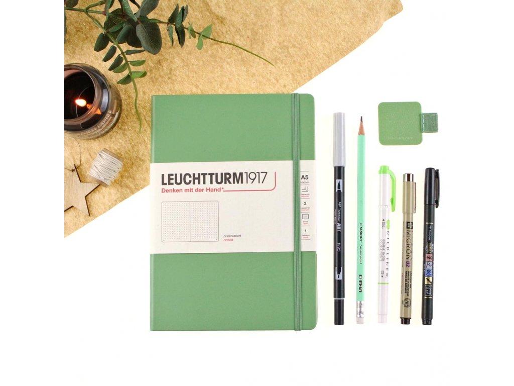 Bullet Journal plánovací set - zelený