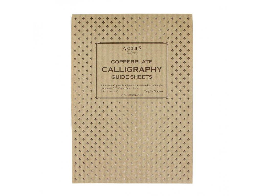 Kaligrafický blok Copperplate 9 6 9 A4, 140 gm2, 50 archů