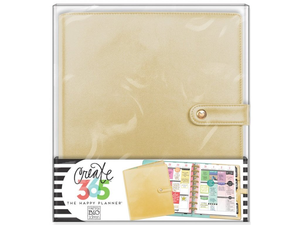 Obal na diář Happy Planner CLASSIC -  Gold