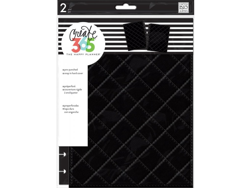 Desky na diář Happy Planner CLASSIC - Quilted Black