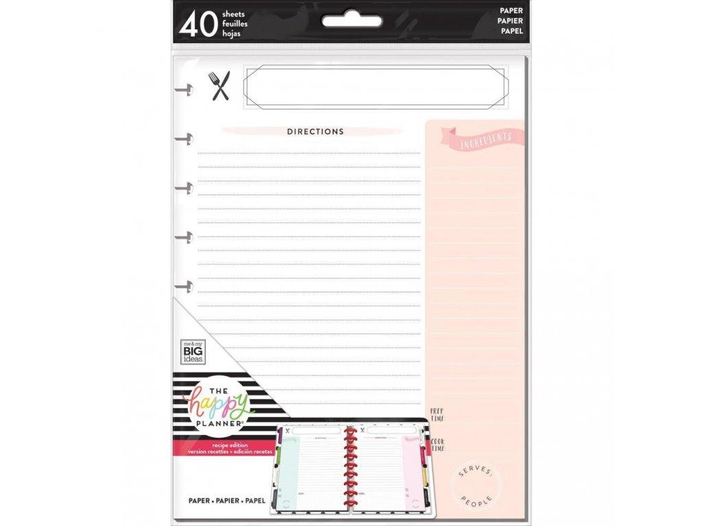Poznámkové listy Happy Planner CLASSIC - Recipe