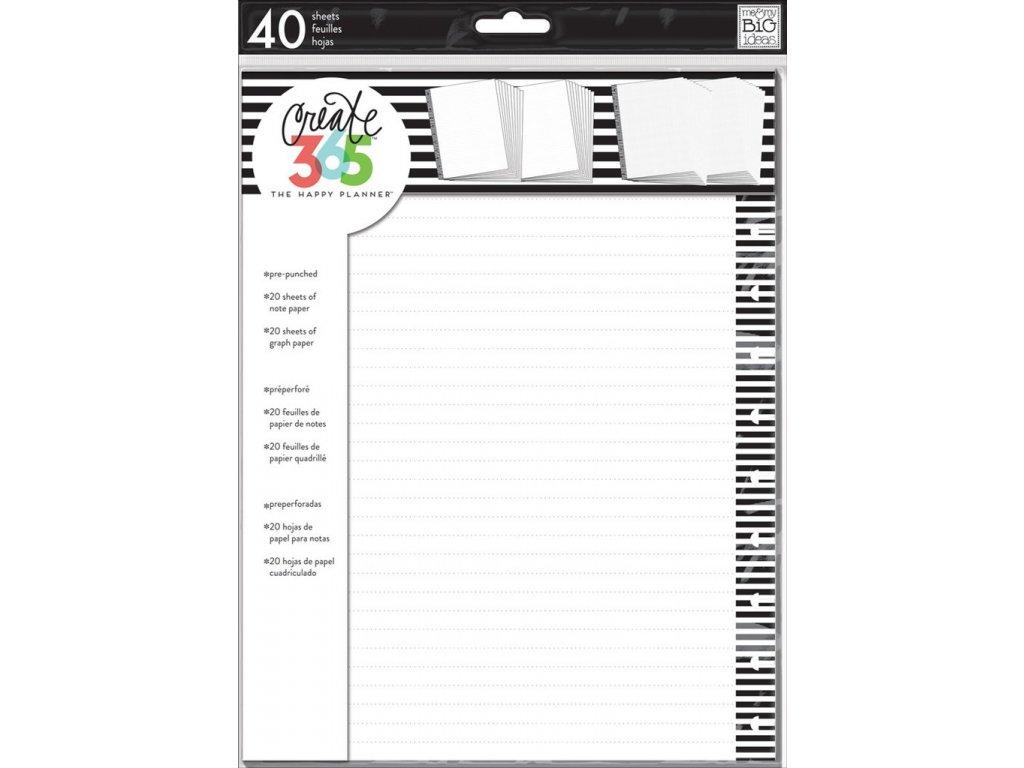 Poznámkové listy Happy Planner BIG - Note & Graph Paper