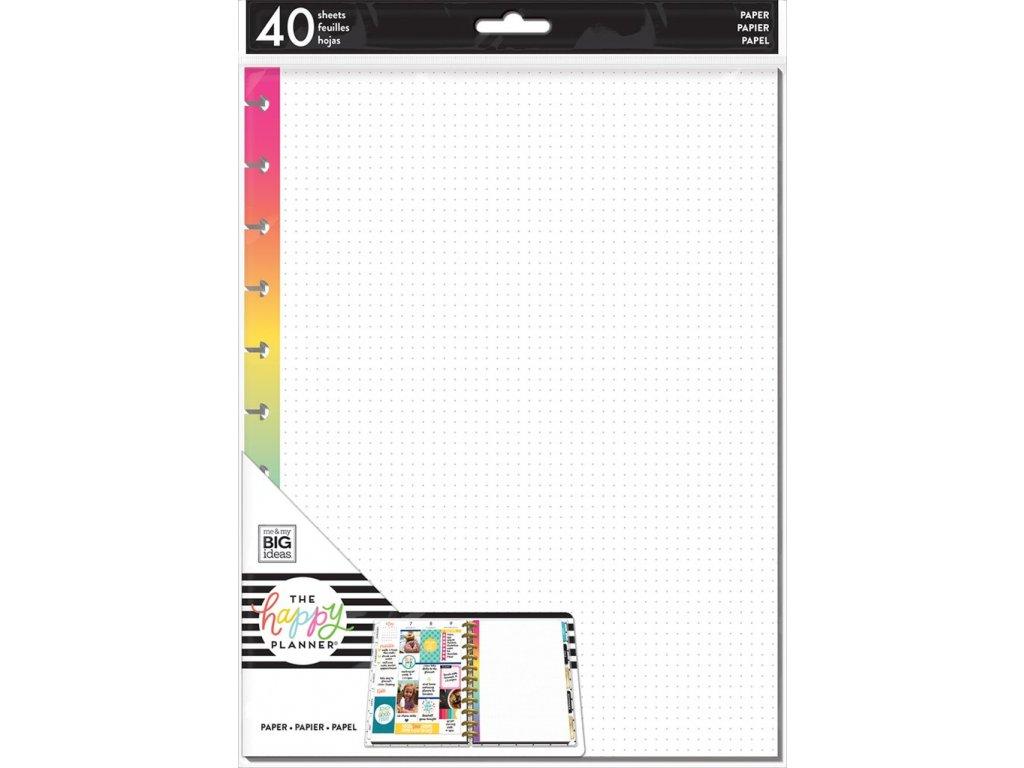 Poznámkové listy Happy Planner BIG - Rainbow Dot Grid