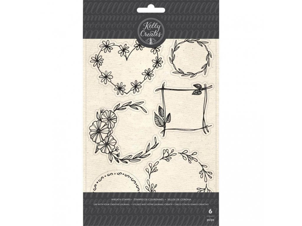 Silikonová razítka Kelly Creates - Floral Wreaths
