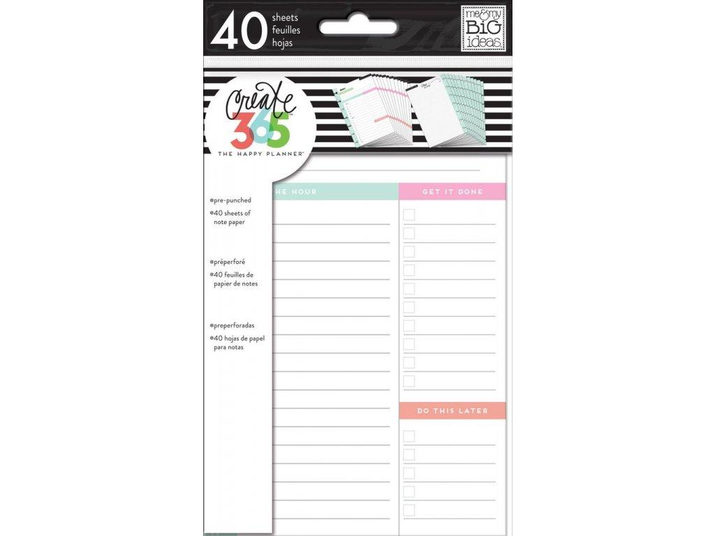 Poznámkové listy Happy Planner MINI - Daily Sheets