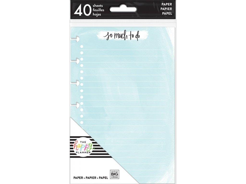 Poznámkové listy kombinace Happy Planner MINI - Watercolor