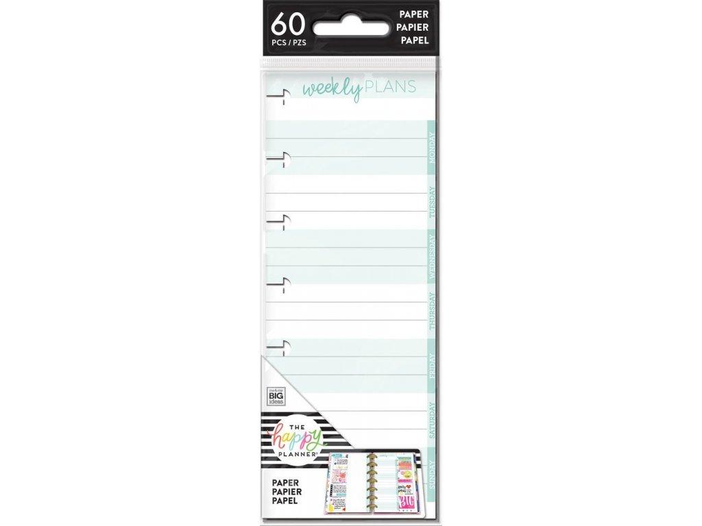 Poznámkové listy Happy Planner SKINNY MINI - Weekly Notes