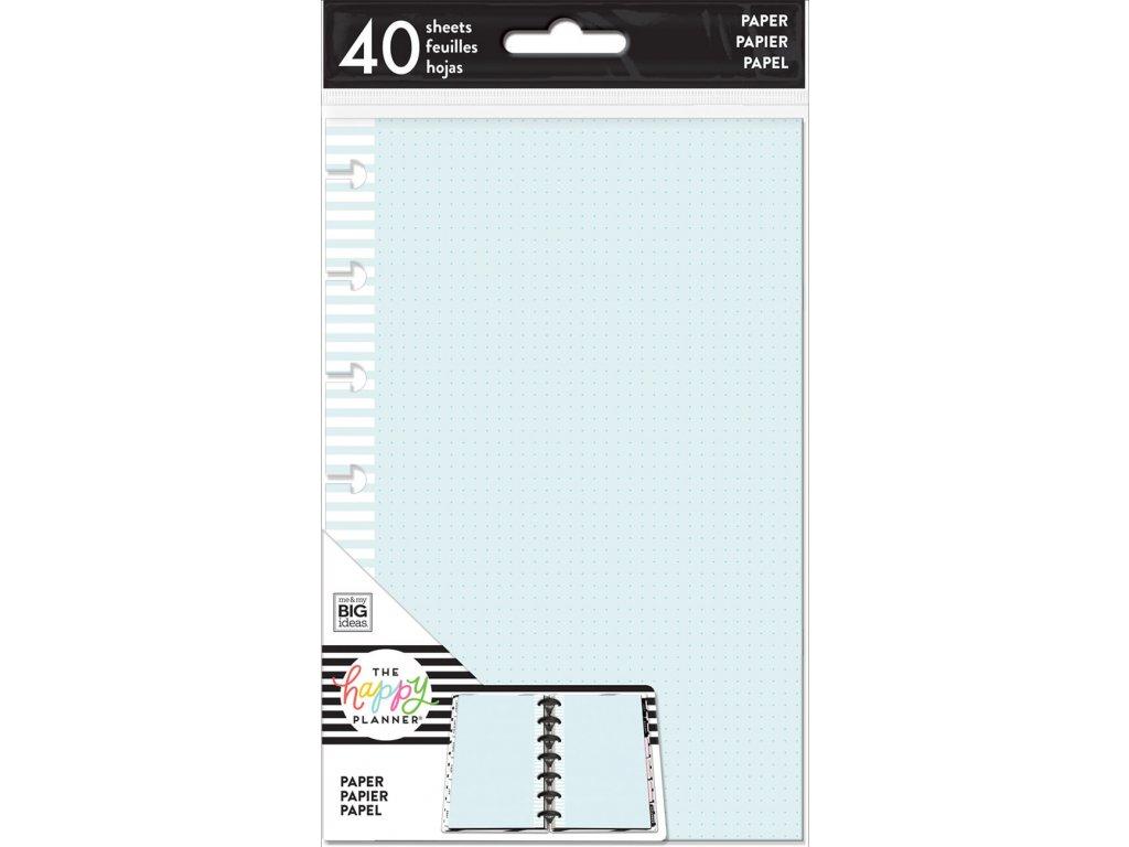 Poznámkové listy Happy Planner MINI - Coloured Dot Grid