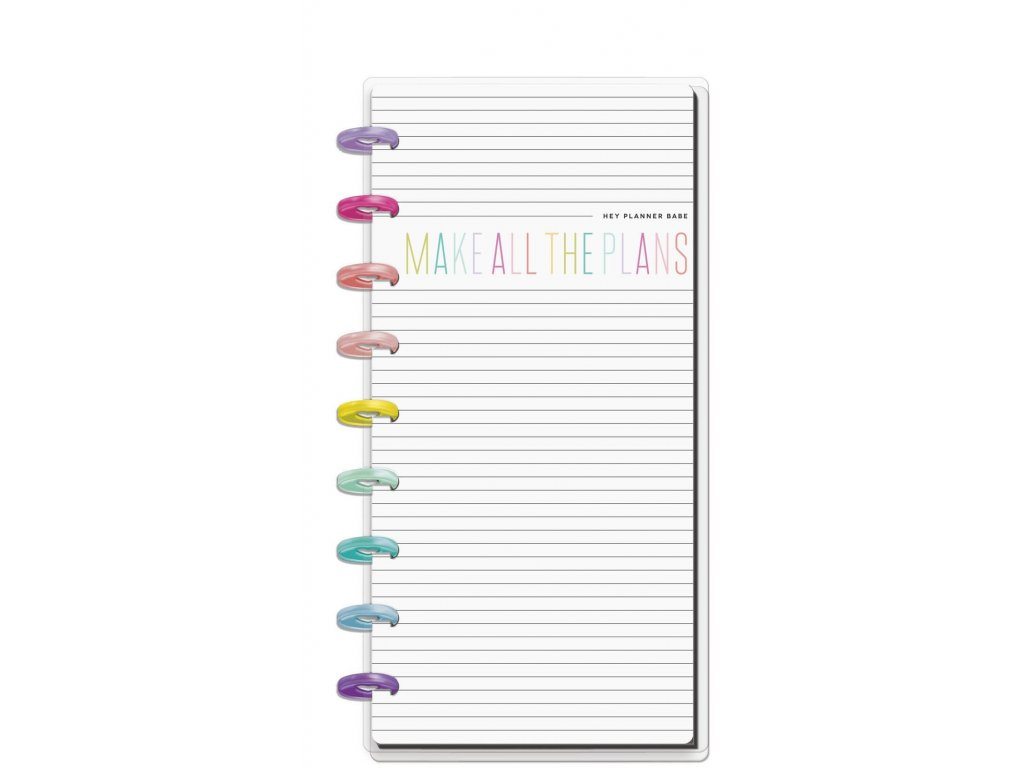 Zápisník Happy Notes SKINNY CLASSIC - Planner Babe