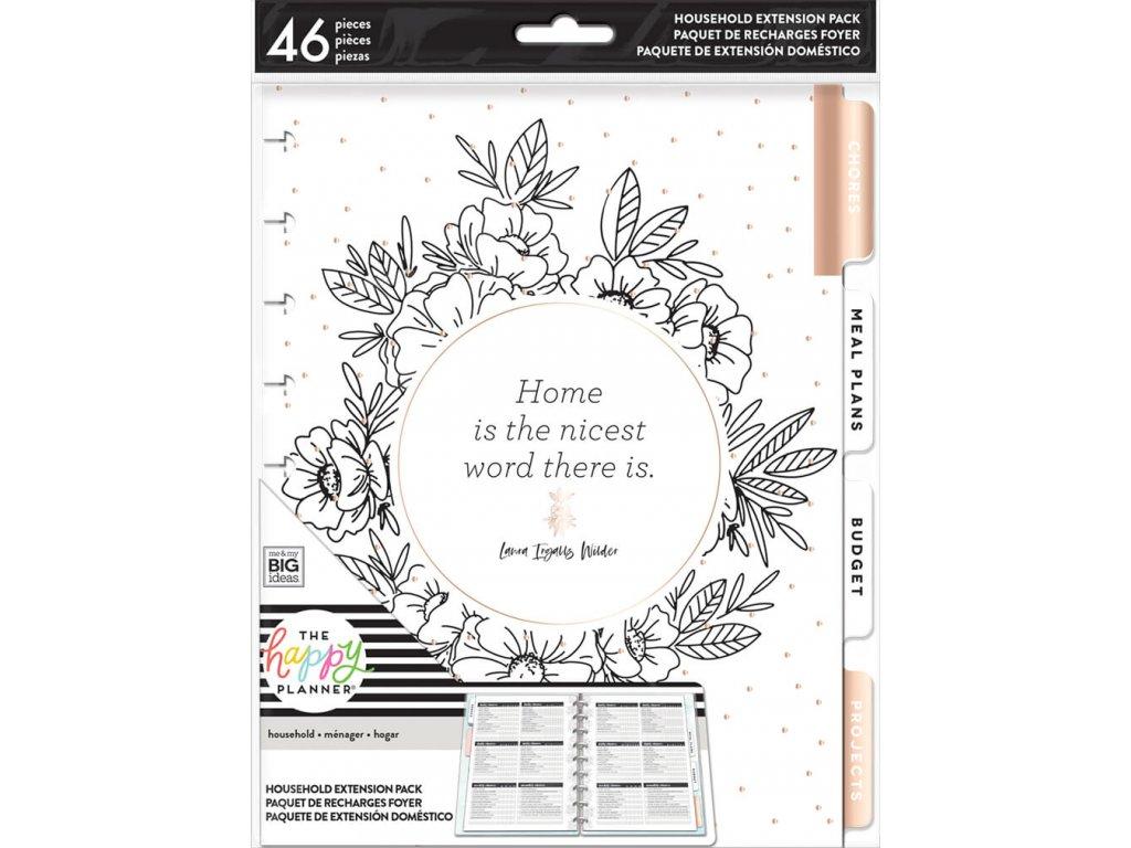 Rozšíření do diáře Happy Planner CLASSIC - Home