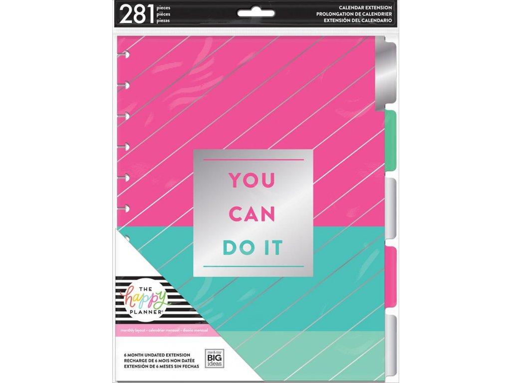 Nedatovaná náplň do diáře Happy Planner BIG - Monthly Pack