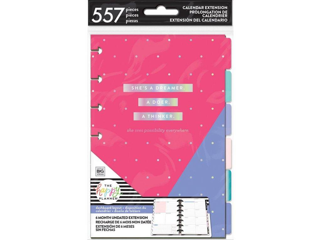 Nedatovaná náplň do diáře Happy Planner MINI - Dashboard Layout