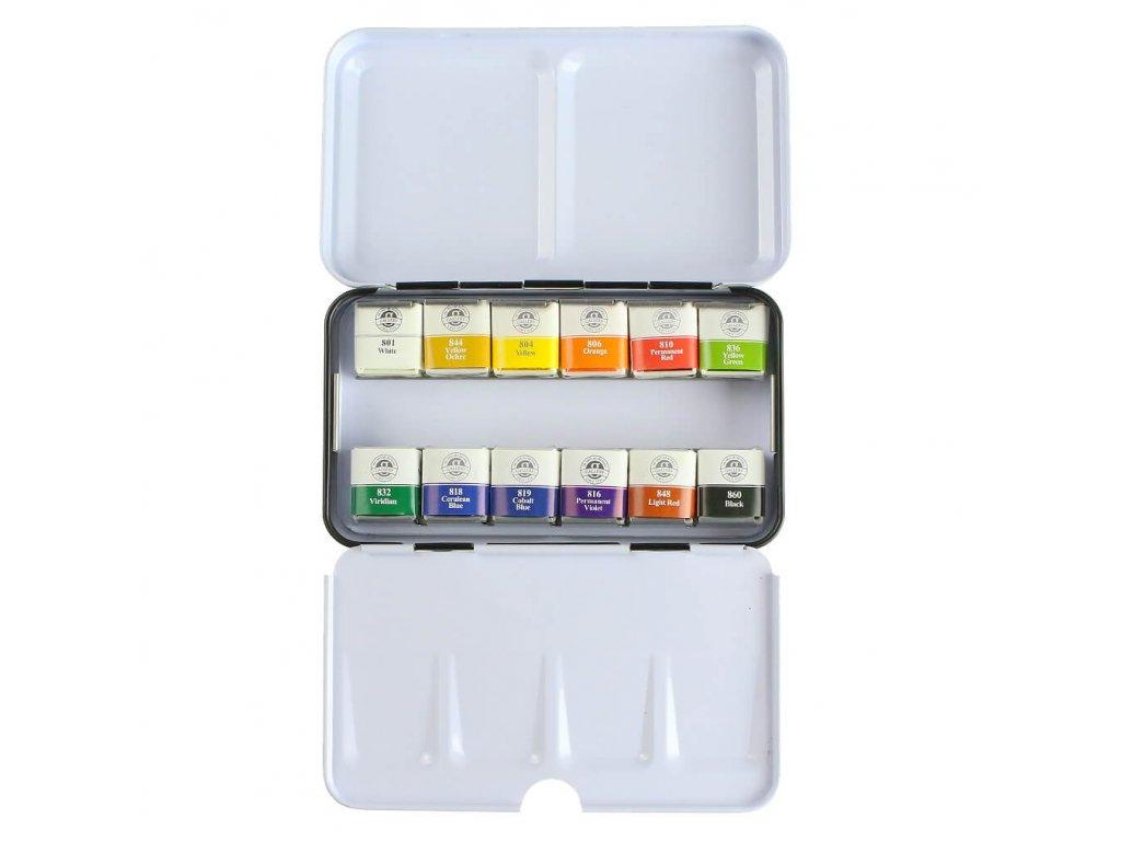 akvarelové barvy mungyo sada 12 ks