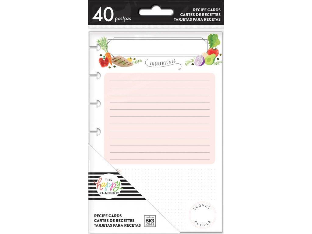 Poznámkové listy Happy Planner MINI - Recipe