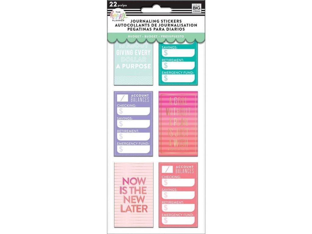 Samolepky Happy Planner Journaling - Budget