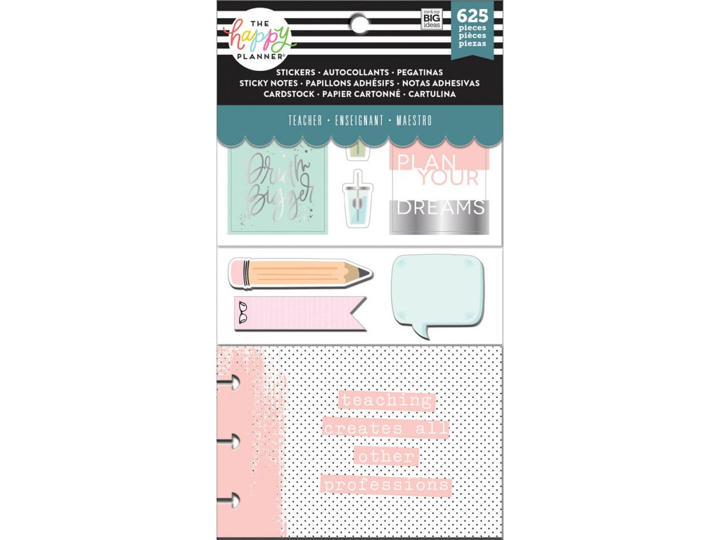 Samolepky a bločky Happy Planner - Teach Simply