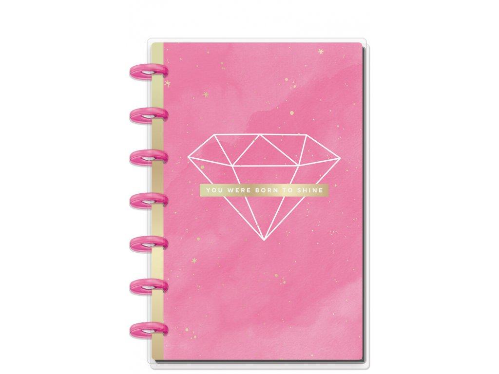 Zápisník Happy Notes MINI - Born To Shine