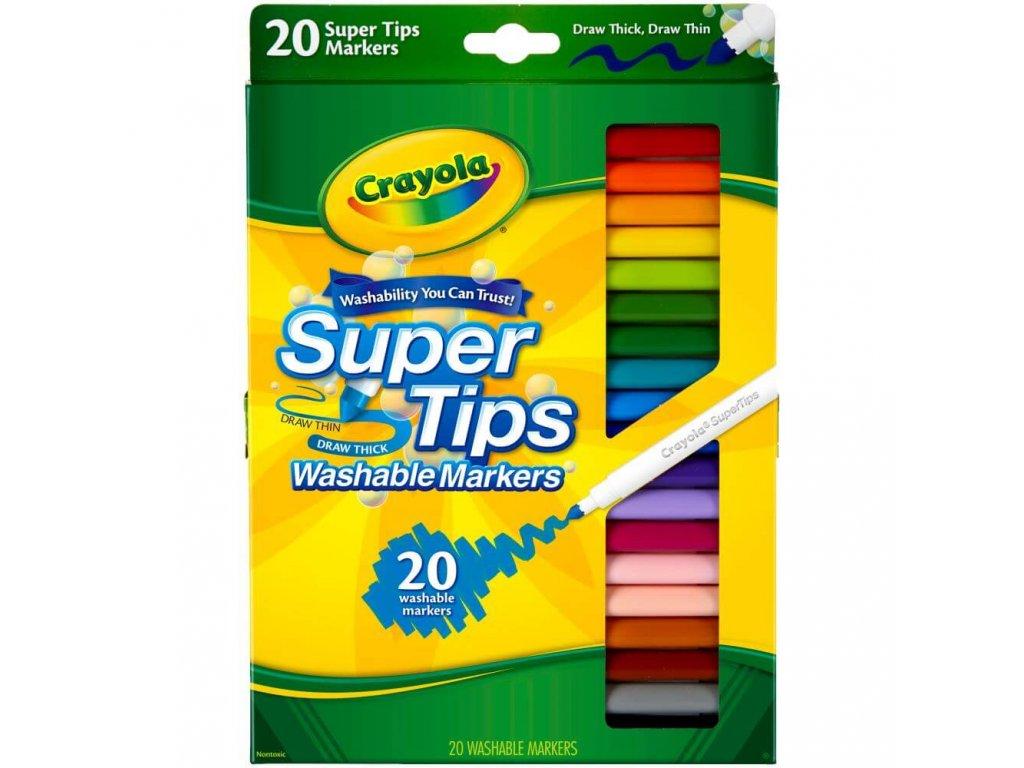 Fixy Crayola Super Tips s kónickým hrotem, 20 ks