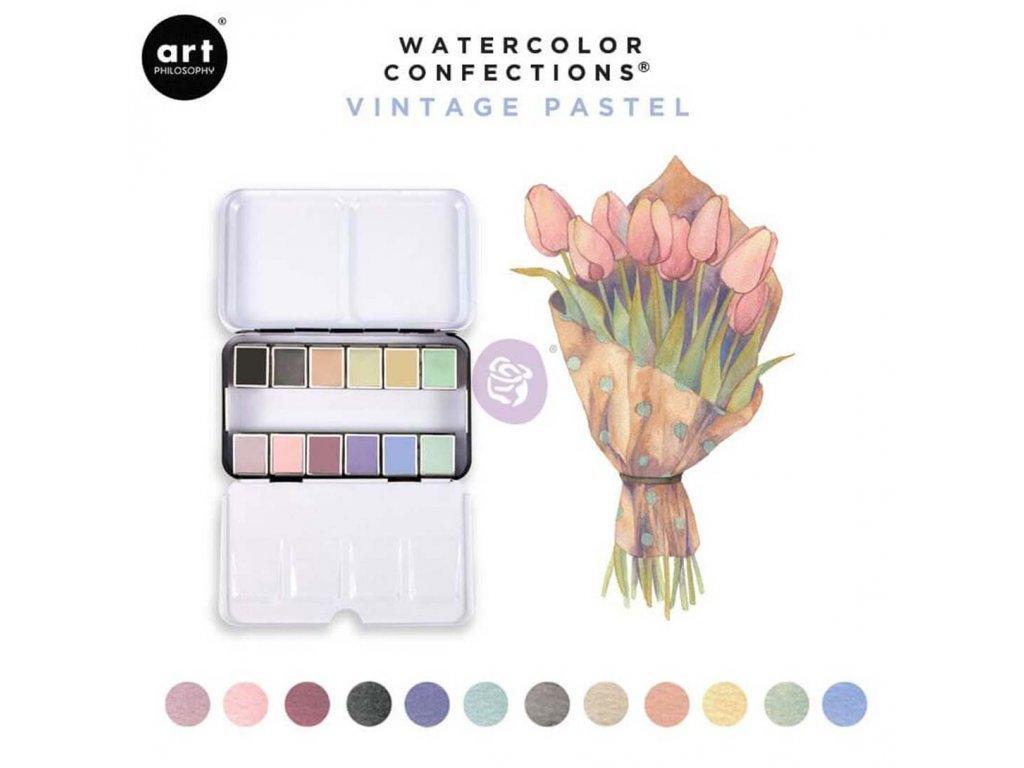 Akvarelové barvy Art Philosophy - Vintage Pastel, sada 12 ks