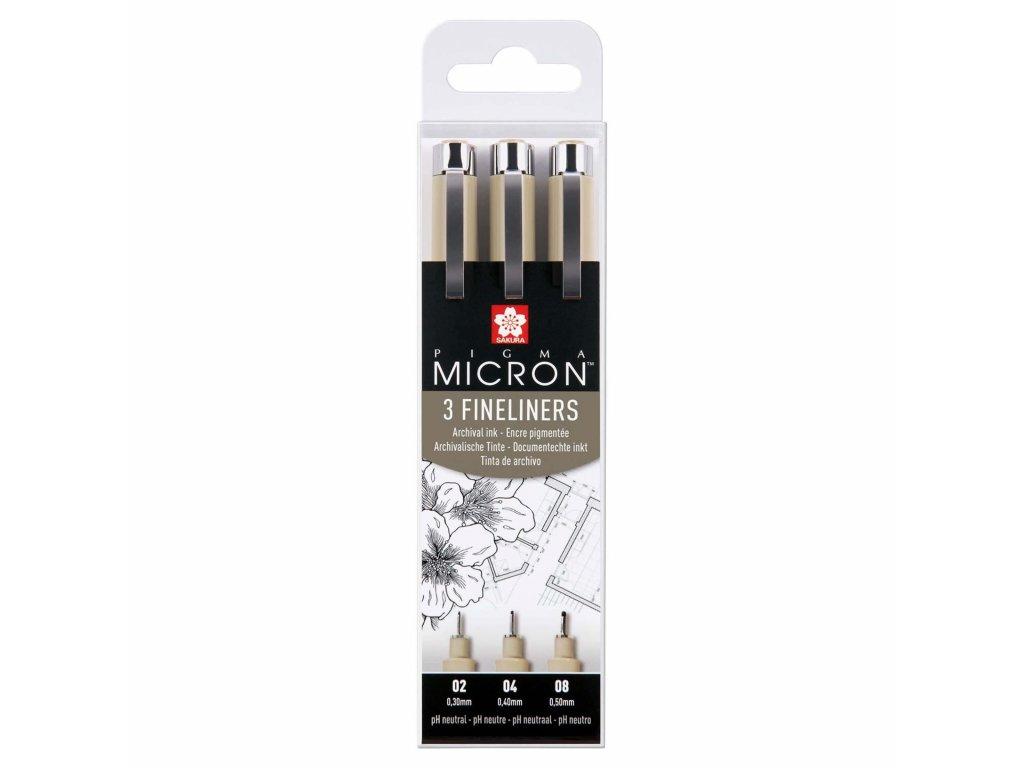 Sada linerů Sakura Pigma Micron 3 ks, černé