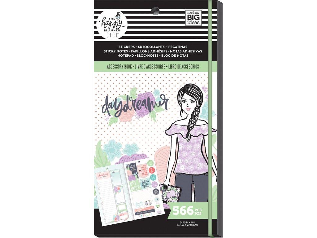 Samolepky + bločky Happy Planner Accessory Book - Daydreamer