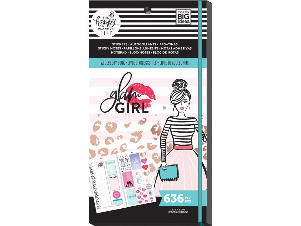 Samolepky + bločky Happy Planner Accessory Book - Glam Girl