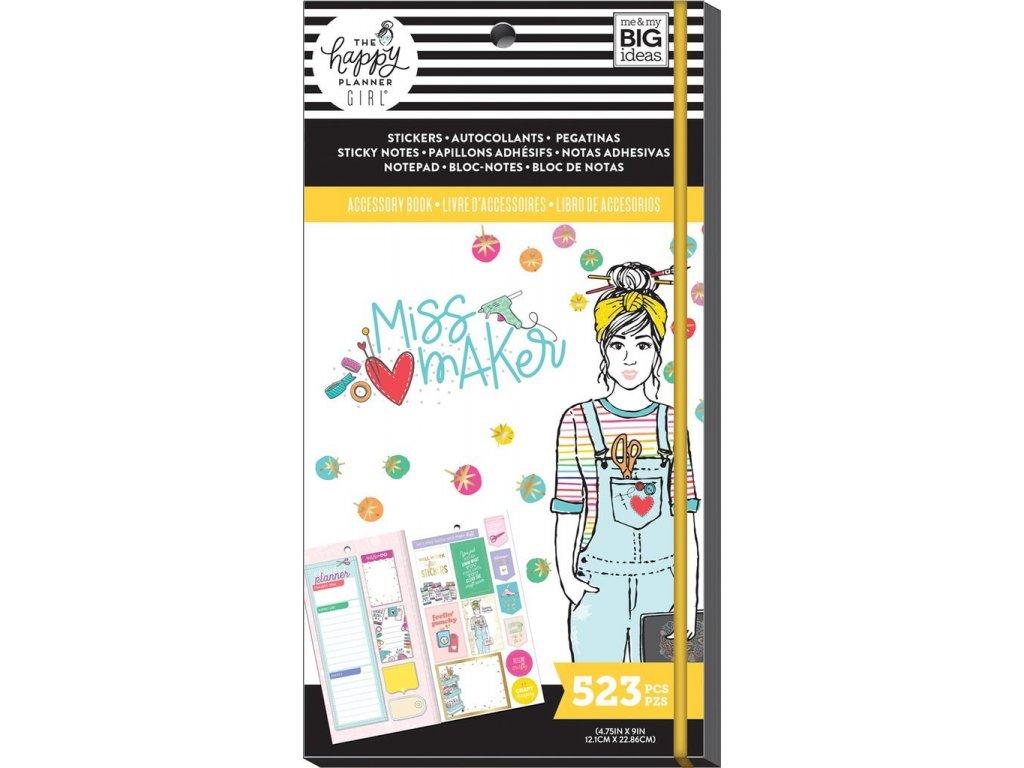 Samolepky + bločky Happy Planner Accessory Book - Miss Maker