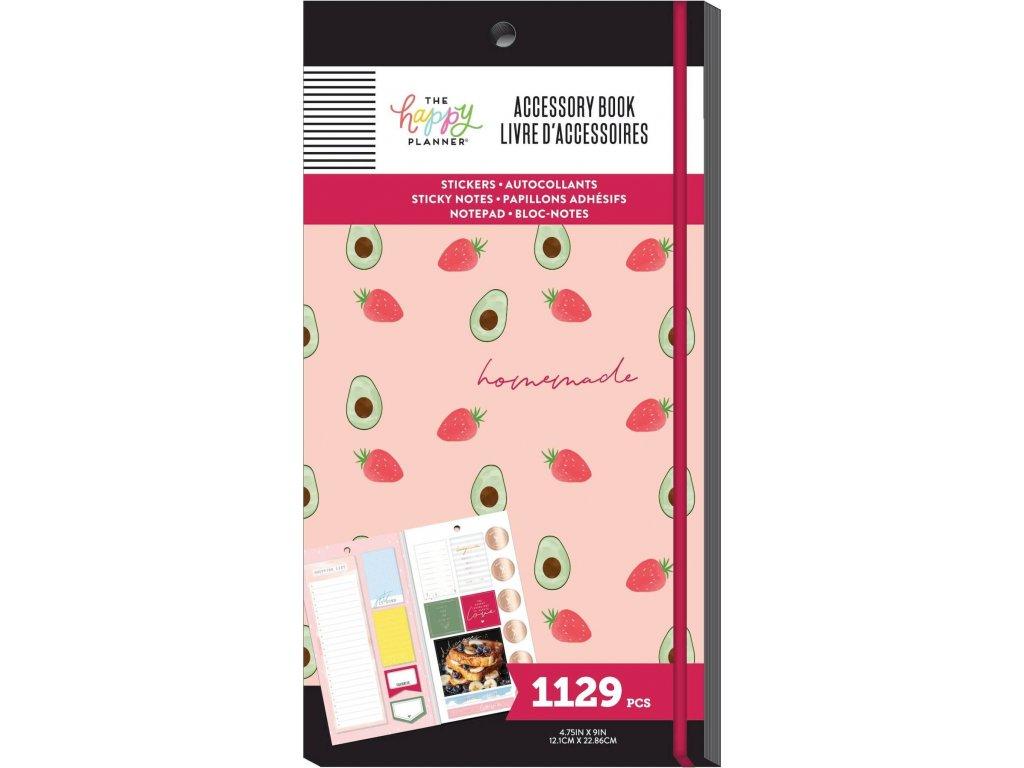 Samolepky + bločky Happy Planner Accessory Book - Recipe