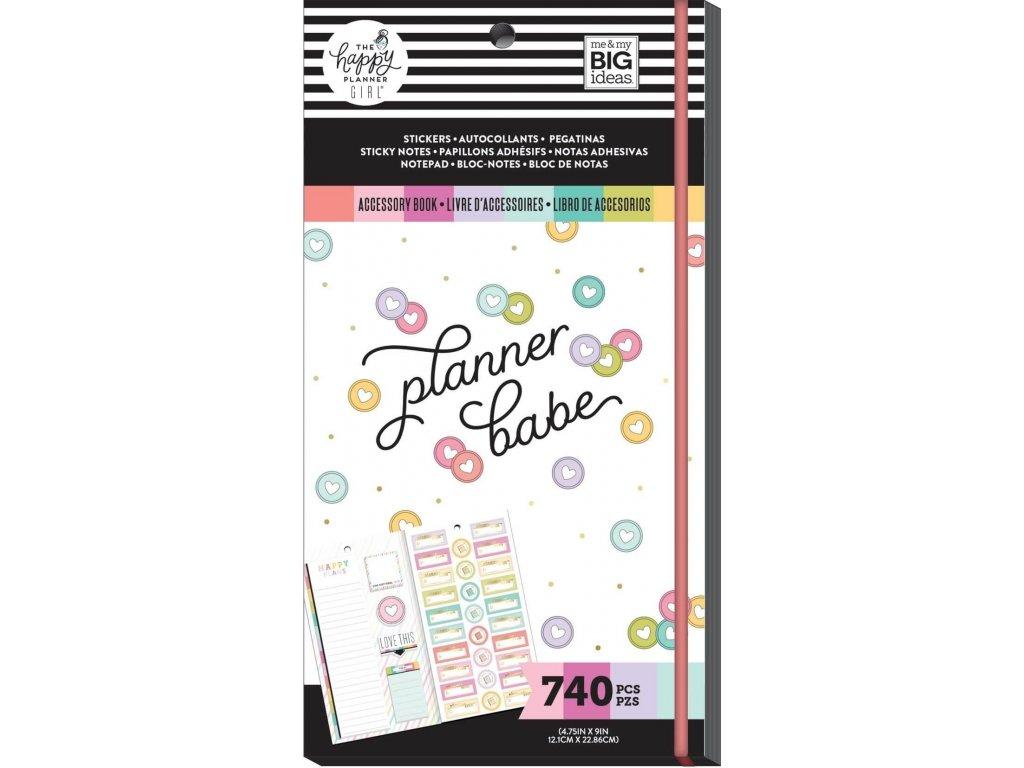 Samolepky + bločky Happy Planner Accessory Book - Planner Babe