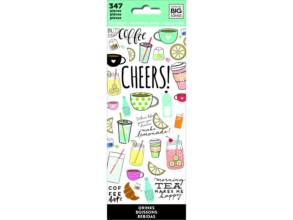 Samolepky Happy Planner Petite - Drinks
