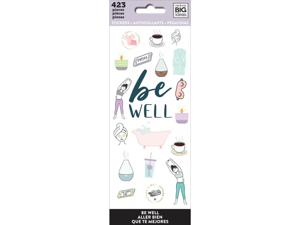 Samolepky Happy Planner Petite - Be Well